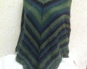 Shades of green shawl