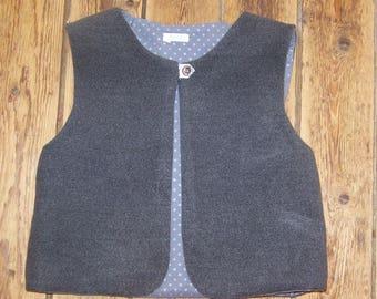 Vest of gray donkey