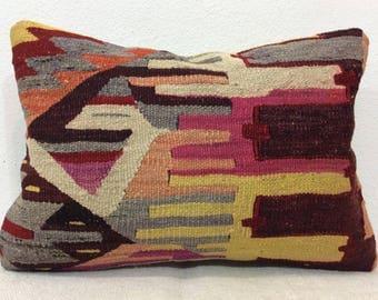 14 x 20 pillow case handmade cushion cover kilim pillow cover