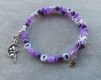 Purple Fairy nursing bracelet to the Moon