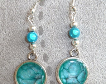 """Pebeo Prism earrings """"turquoise and onyx"""""""