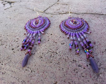 "Earrings embroidered ""Paloma"""
