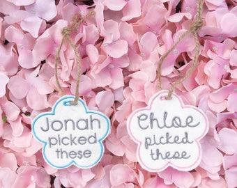 Tag, display tab, hanger,flowers, jar tag, pot tag, sentimental, home decor, present, Mother's Day, birthday