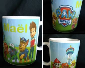 Personalized mug Pat patrol to the child's name