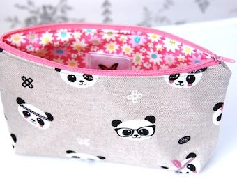 Panda Cosmetic Bags, Panda Makeup Bags, Cosmetic Bags, Makeup Bags, Gifts for Her, Birthday Gifts for a Girl, Panda Bag, Panda Make Up Bags