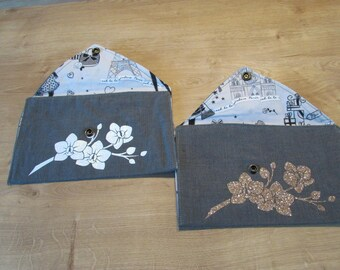 clutch in linen and cotton