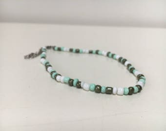 Colored choker and bracelet (double)