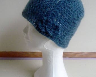 Hat crochet angora wool