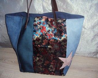"""Star"" purse with Brocade fabric"