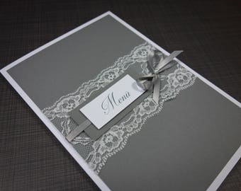 Menu card with lace