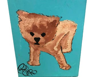 Adorable Puppy, Puppy on Canvas