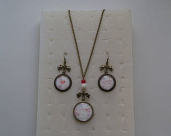 Special Valentine's day necklace and earrings