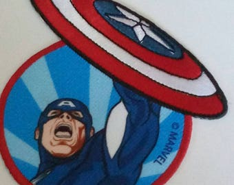 applique motif patch has iron fusible captain america marvel avengers embroidered 9 x 9.5 cm