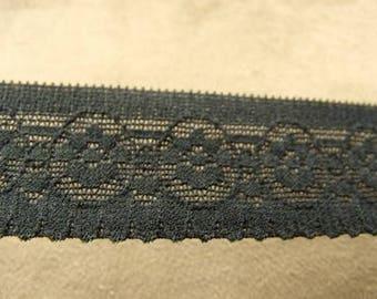 Black Lace elastic - 2.5 cm
