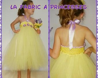 Ceremonial Roselia flower fairy dress