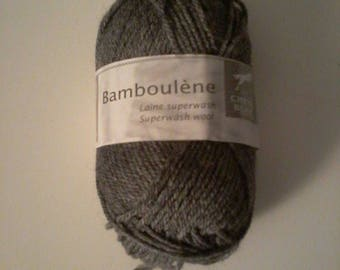 wool horse white-bamboulene anthracite No. 030