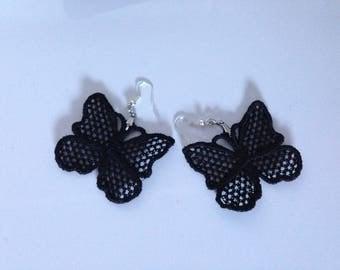 Cotton Butterfly shaped earrings