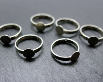 10 adjustable rings, silver
