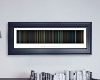 Harry Potter and the Goblet of Fire // Movie Poster // Movie Barcode // Harry Potter Print // Wall Decor // Panoramic