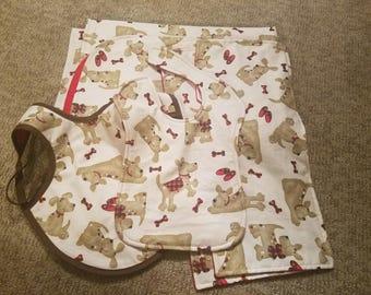 Dog Patterned Baby Blanket Bundle
