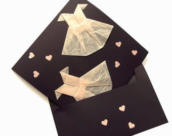 card with envelope origami dresses