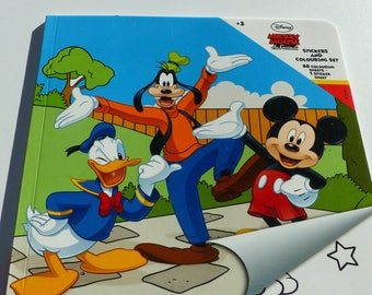 stickers and 48 Mickey Donald goofy coloring book