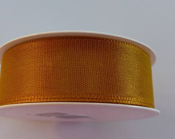 3 meters of 25 mm mm Brown satin ribbon