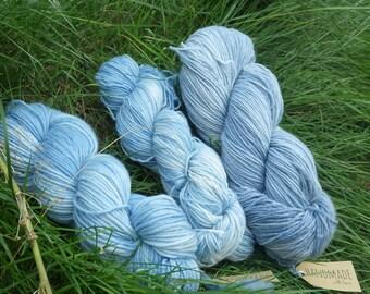 Merino Wool hand-dyed with Indigo