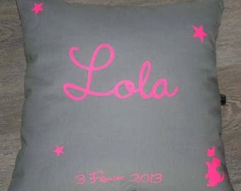 "Custom neon cushion ""stars"" Lola"