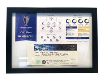 Football Personalised Infographic Ticket Display