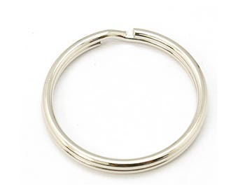 Set of 2 rings silver color key