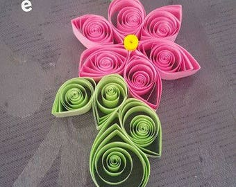 Flower necklaces handmade paper Quilling way