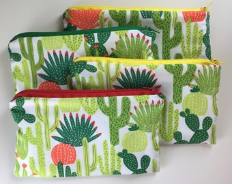 Cactus Waterproof Washable Reusable Snack Bag