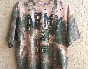 Bleached and Ripped United States Army Shirt