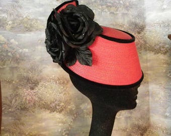 Whittall & Shon Red Straw Hat