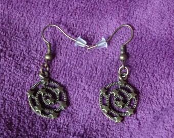 Swirls of stars earrings