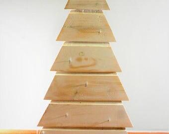 Reclaimed wood Christmas tree, height 80 cm
