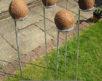 Set of 7 coconut shy posts