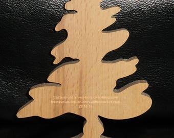 Christmas wooden tree of beech