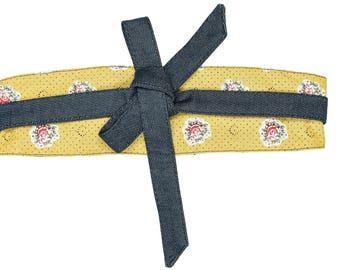 Yellow reversible FRANCETTE tie belt