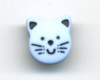Cat blue button