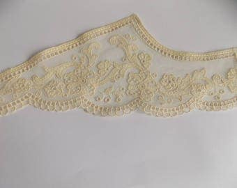 Pair left and right collar cotton tulle size 38