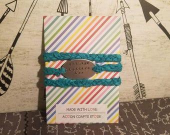 Custom Braided Wrap Bracelet