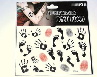 Temporary tattoo Board, Fun prints