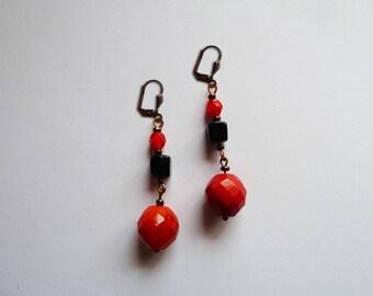 Lobe earrings. Argentine tango.