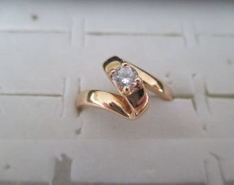 gold plated ring and zirconium
