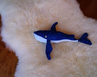 Whale plush toy / stuffed whale
