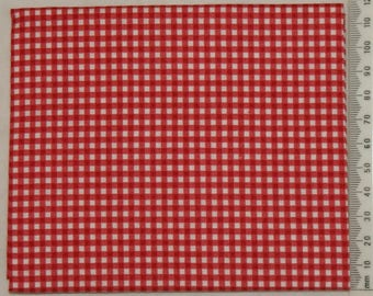 Makower - red and white gingham fabric.