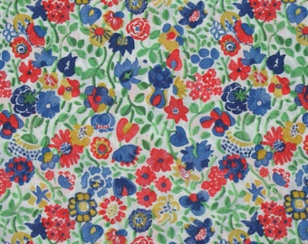 "Coupon - 33.3 cm x 135cm Liberty of London fabric - multicolored. ""Kaylie Sunshine""."