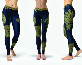 Hippie Habits - leggings, womens yoga pants, womens yoga leggings, yoga pants women, fitness, dance, activewear